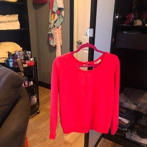Bright coral sweater